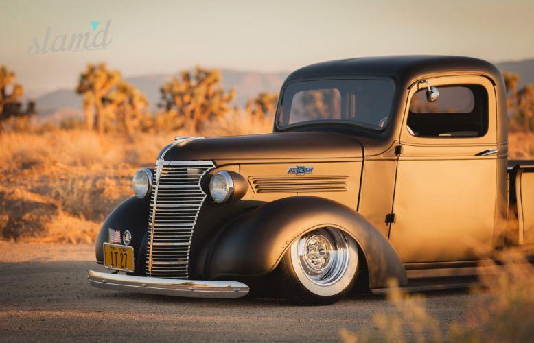 1938 Chevy Pickup lowrider tuning custom retro f wallpaper