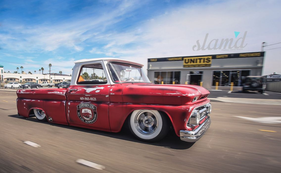 1966 Chevrolet C10 Pickup Lowrider Custom Tuning Classic F Wallpaper Pick Up