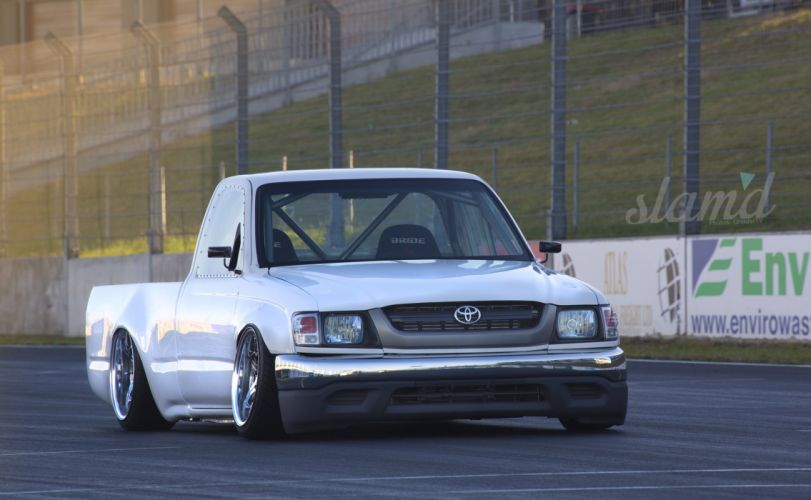 2001 Toyota Hilux Tacoma pickup lowrider drift custom tuning race racing d wallpaper
