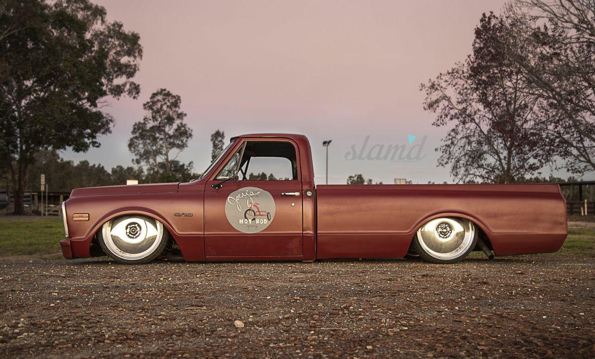 1969 Chevrolet C10 pickup lowrider tuning custom classic dd wallpaper