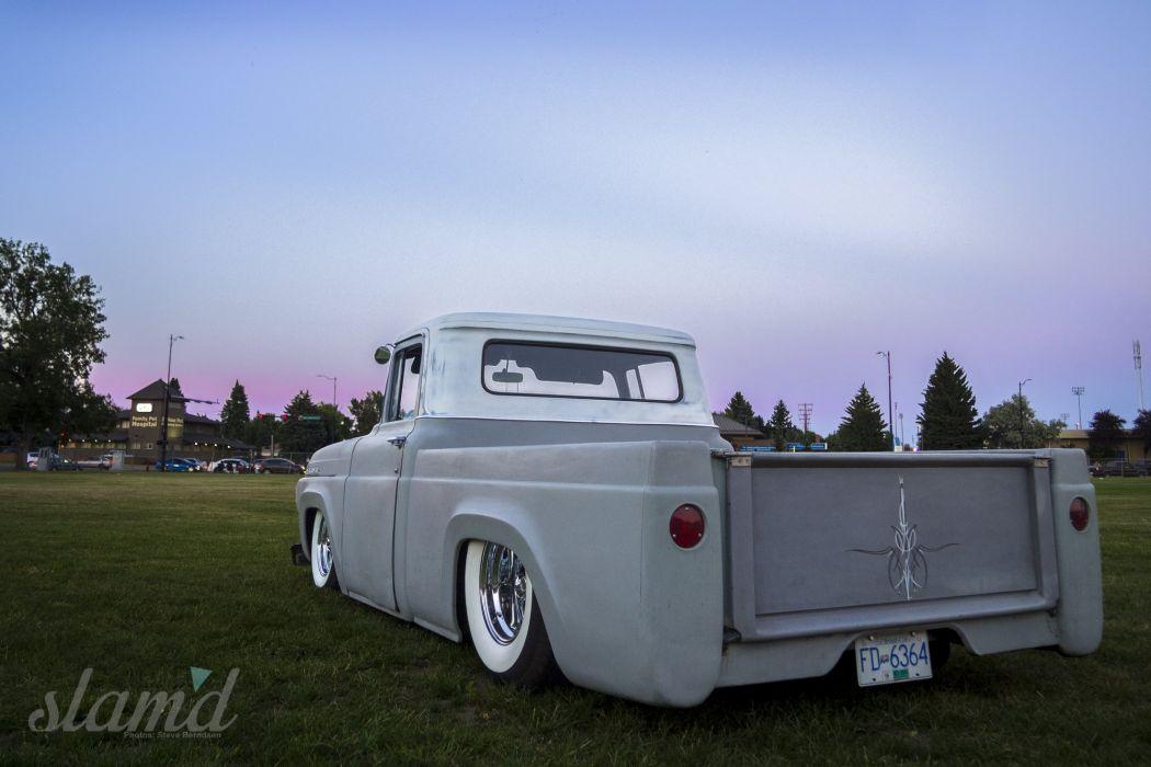1957 MERCURY M100 pickup lowrider custom retro d wallpaper