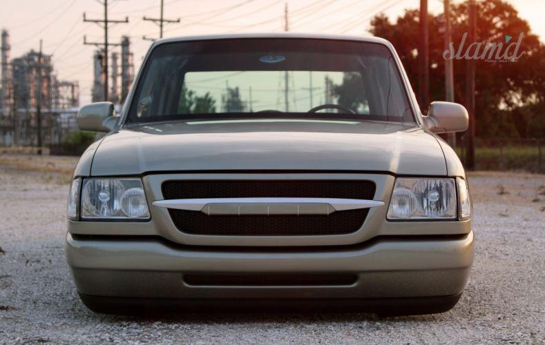 Ford Ranger pickup lowrider custom tuning d wallpaper