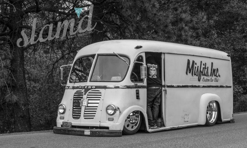 1959 Metro Panel Van lowrider custom tuning semi tractor retro f wallpaper