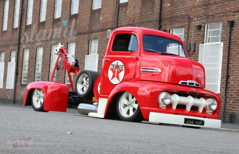 1951 Ford COE Tow Truck lowrider custom tuning towtruck emergency retro semi tractor d wallpaper