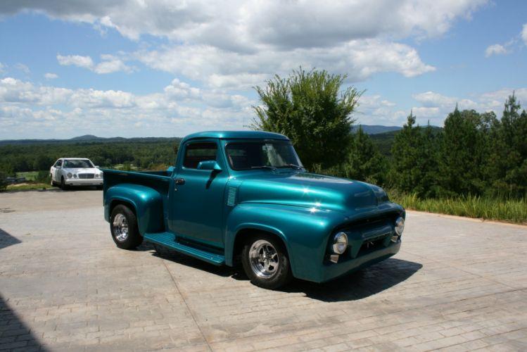 1954 Ford F100 pickup hot rod rods retro custom d wallpaper