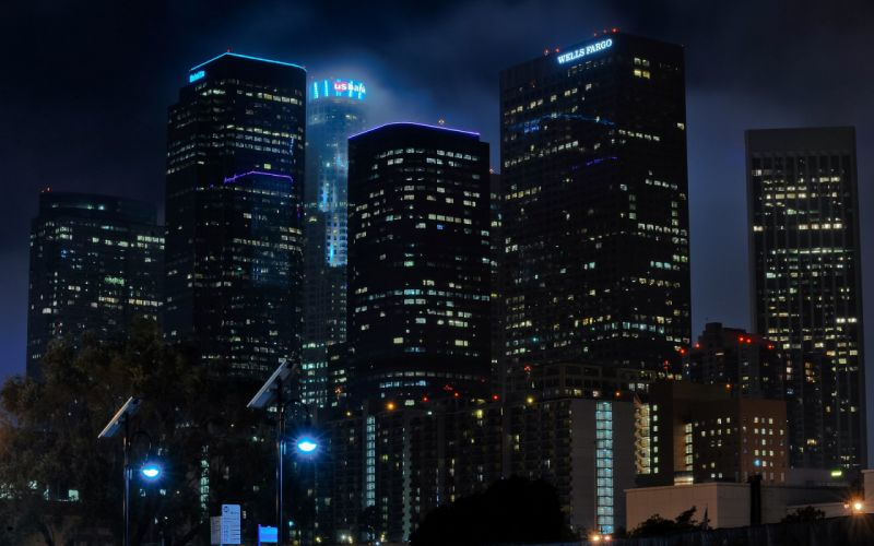 Nightview of LA wallpaper
