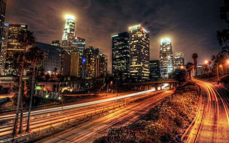 Nightview of Los Angeles wallpaper