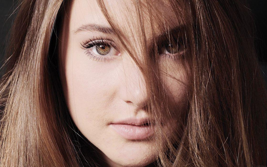 beautiful girl shailene woodley actress film long hair face wallpaper