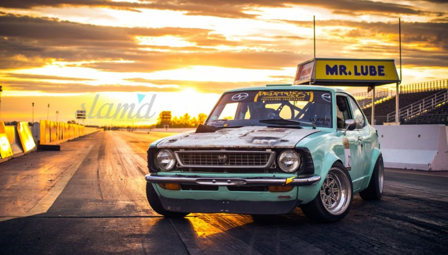 1972 Toyota Corolla tuning custom race racing drift wallpaper