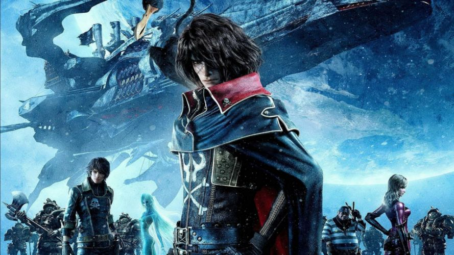 SPACE PIRATE CAPTAIN HARLOCK fantasy pirates adventure anime manga series 1spch sci-fi spaceship wallpaper