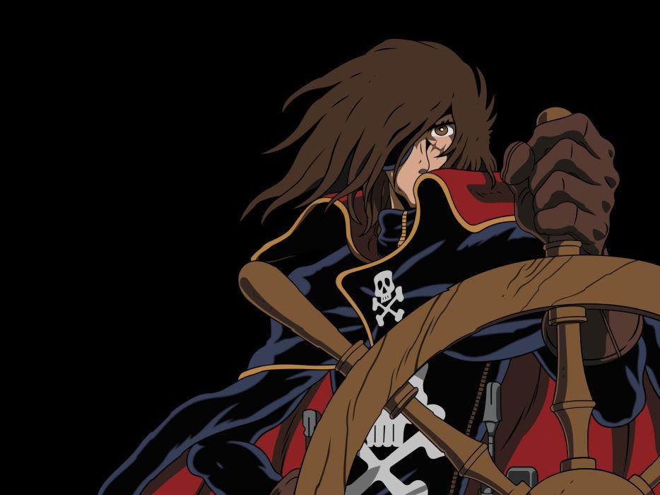 SPACE PIRATE CAPTAIN HARLOCK fantasy pirates adventure anime manga series 1spch sci-fi wallpaper