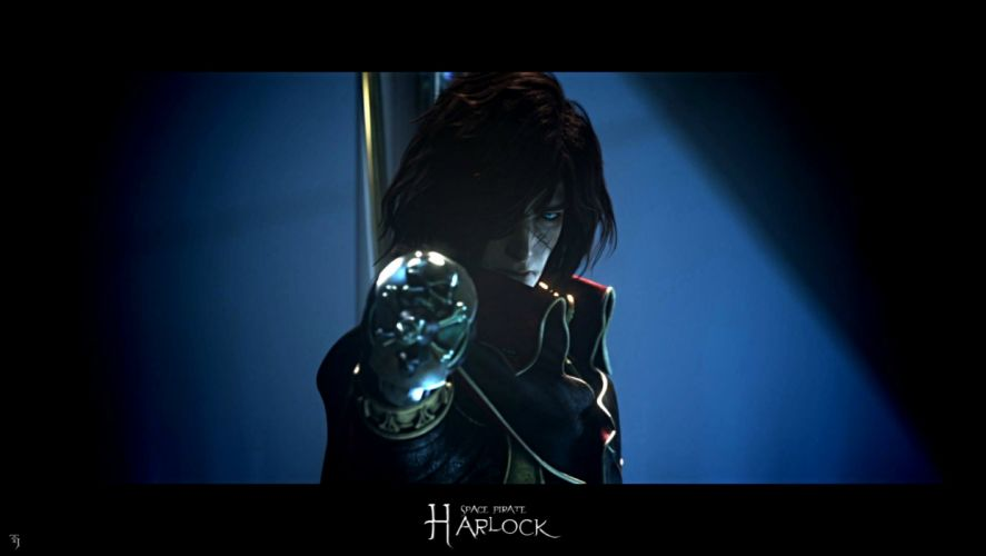SPACE PIRATE CAPTAIN HARLOCK fantasy pirates adventure anime manga series 1spch sci-fi wallpaper