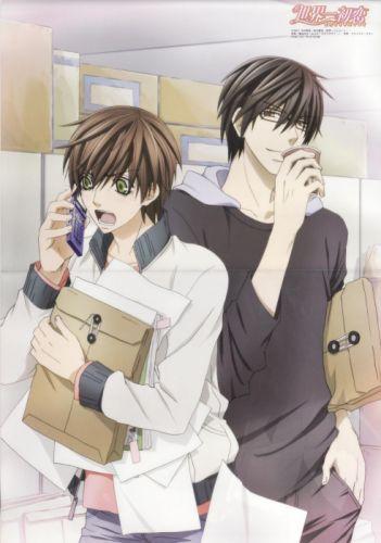 Sekai Ichi Hatsukoi Series couple cute anime boys wallpaper