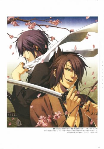 Hakuouki Shinsengumi Kitan Series anime characters cool sword wallpaper