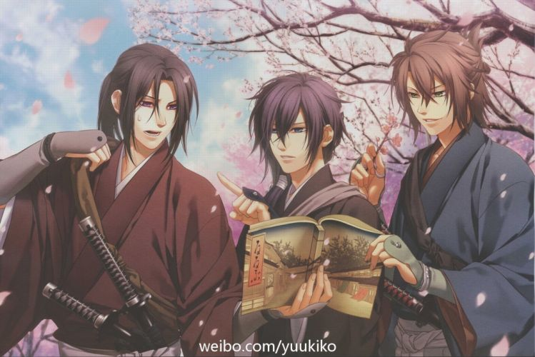 Hakuouki Shinsengumi Kitan Series anime characters cool wallpaper