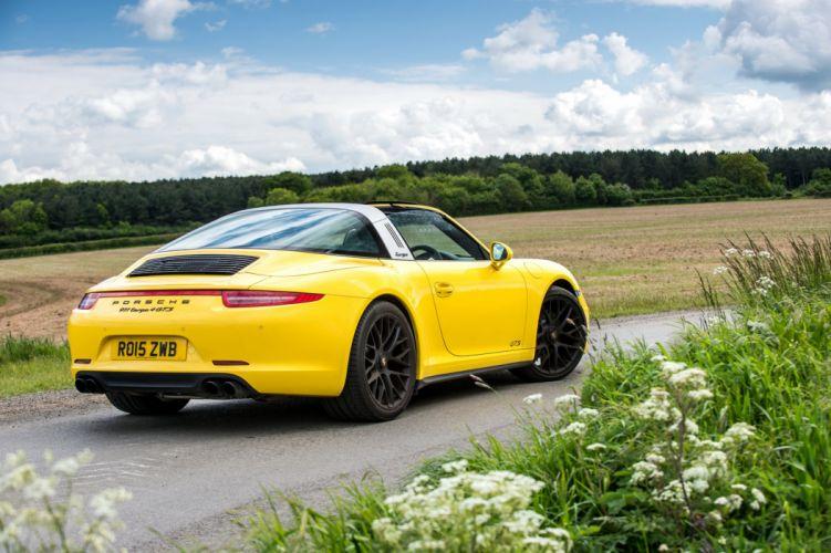 Porsche 911 Targa-4 GTS UK-spec 991 cars yellow 2015 wallpaper