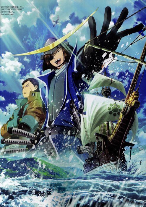 Sengoku Basara Series Game Kojuro Katakura Character Masamune Date anime wallpaper