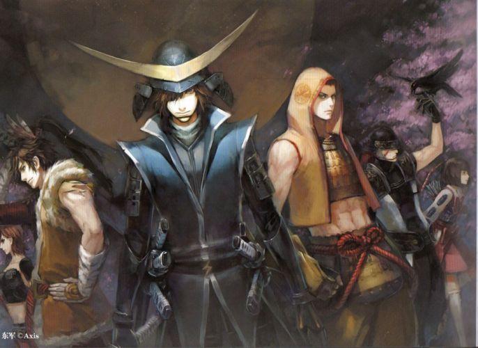 Sengoku Basara Series characters cool group anime guys wallpaper
