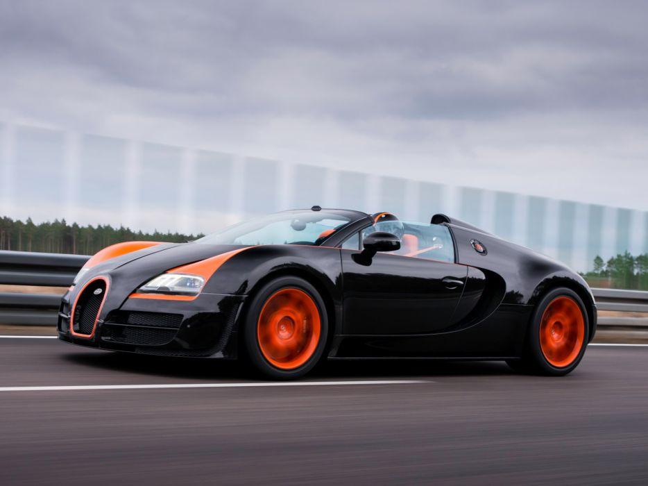 "Bugatti Veyron Grand Sport Roadster Vitesse"" WRC Edition 2013 cars supercars black wallpaper"