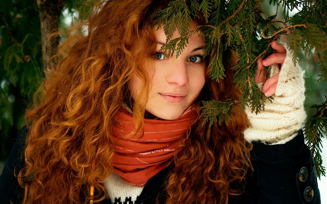 Face smile nature women girls redhead wallpaper