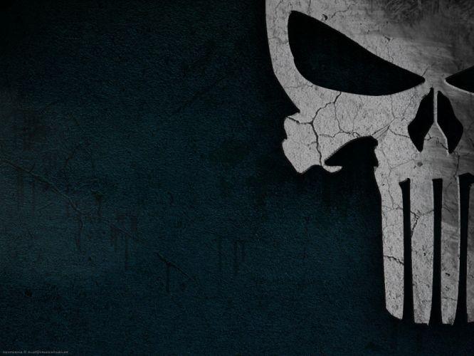 Punisher skull black wallpaper