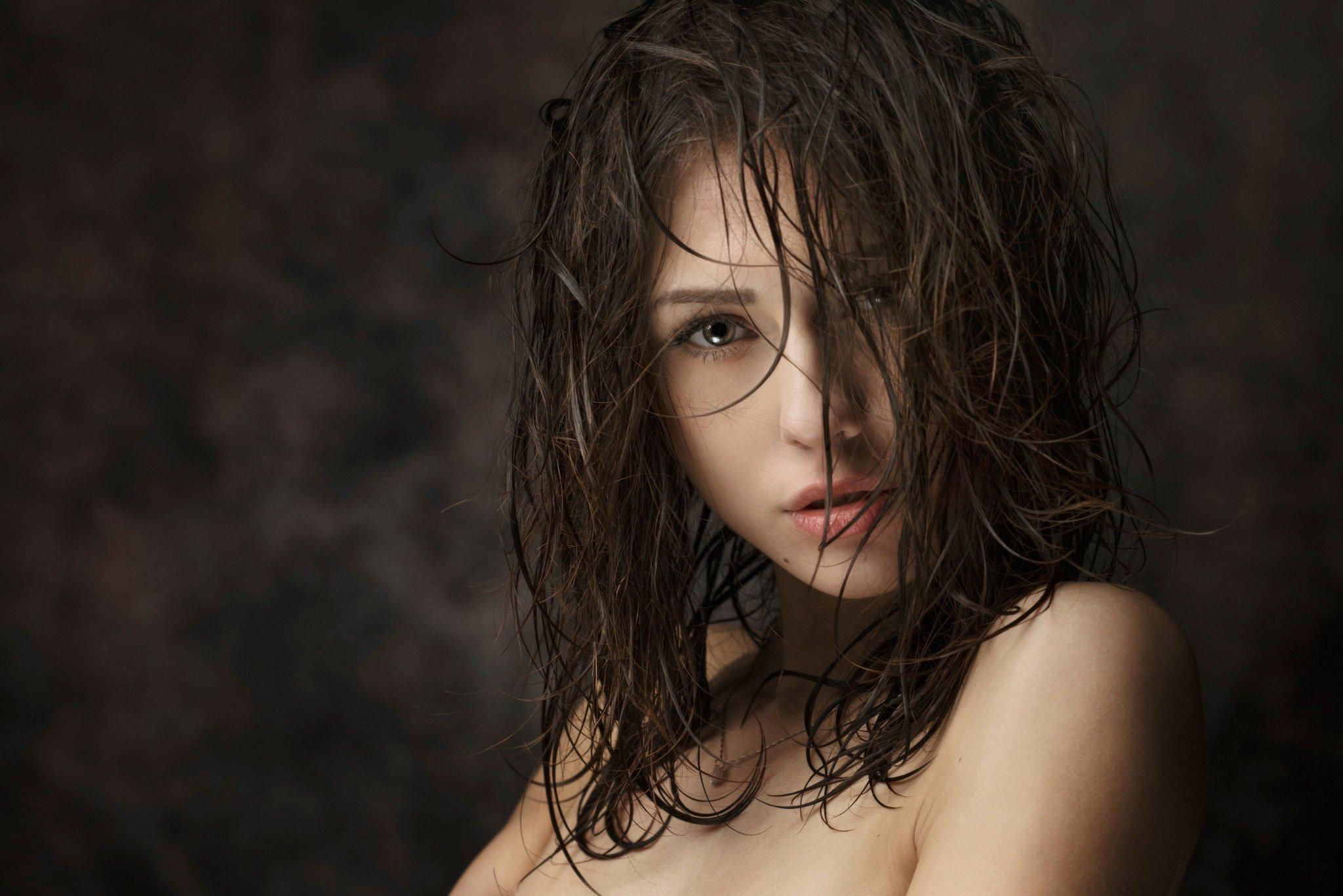 Фото девушек с мокрыми волосами 7 фотография
