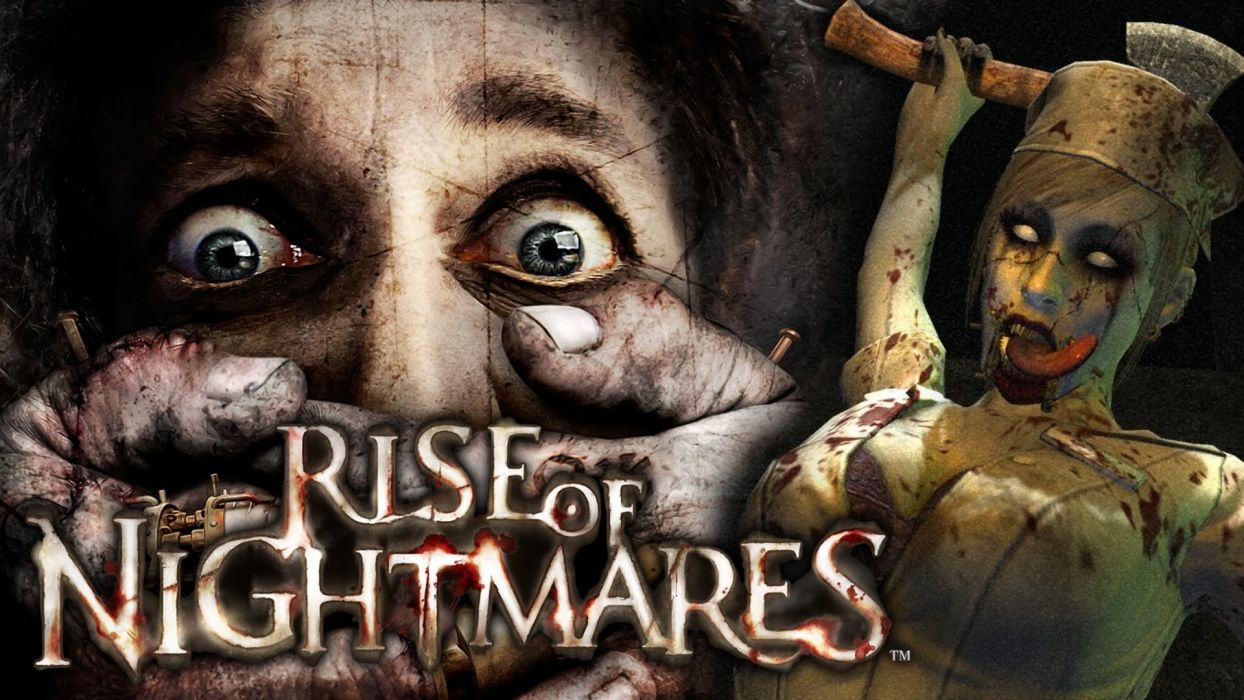 RISE Of NIGHTMARES survival horror dark evil zombie 1rnight monster wallpaper