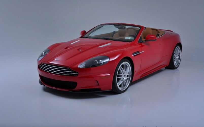 2010 Aston Martin db9 red cars Volante wallpaper
