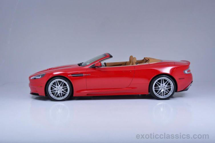 2010 Aston Martin db9 red cars Volante wallpaper