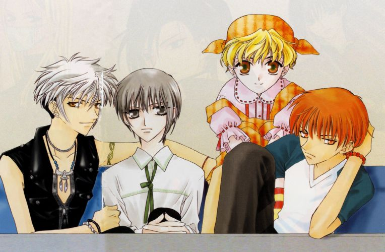 anime series Fruits Basket guys characters wallpaper