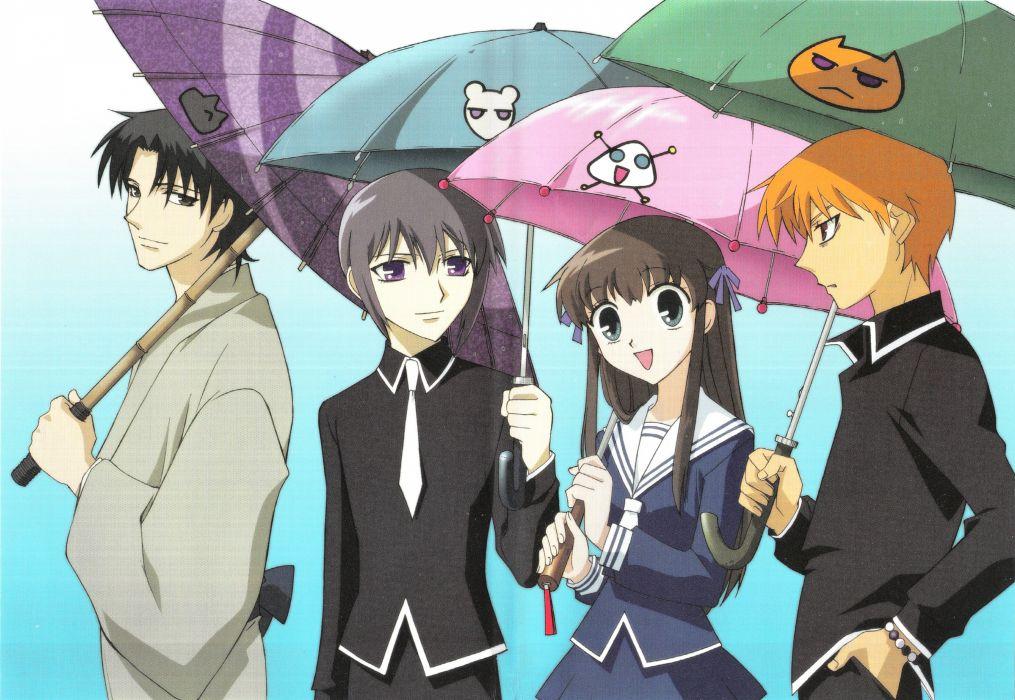 anime series Fruits Basket girl characters wallpaper