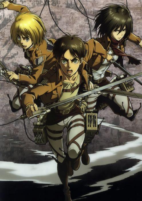 anime Shingeki no Kyojin Series Armin Arlert Character Eren Yeager wallpaper
