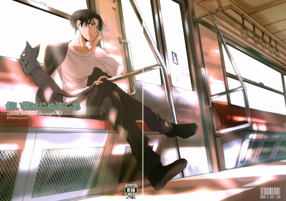 anime Shingeki no Kyojin Series Levi Ackerman Character wallpaper