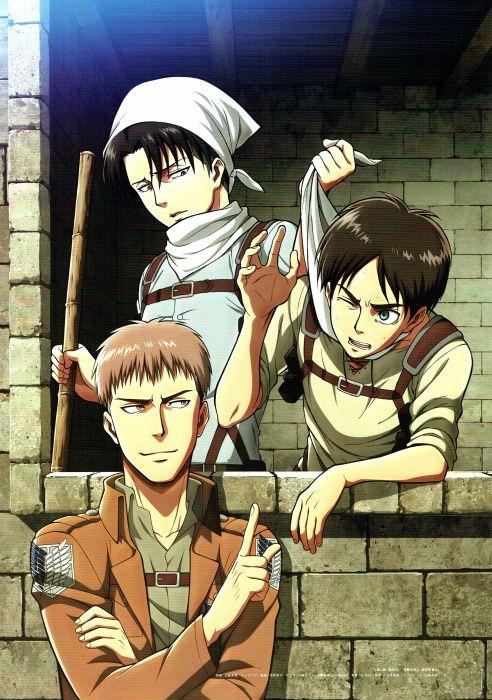 Shingeki no Kyojin Series series characters cool wallpaper