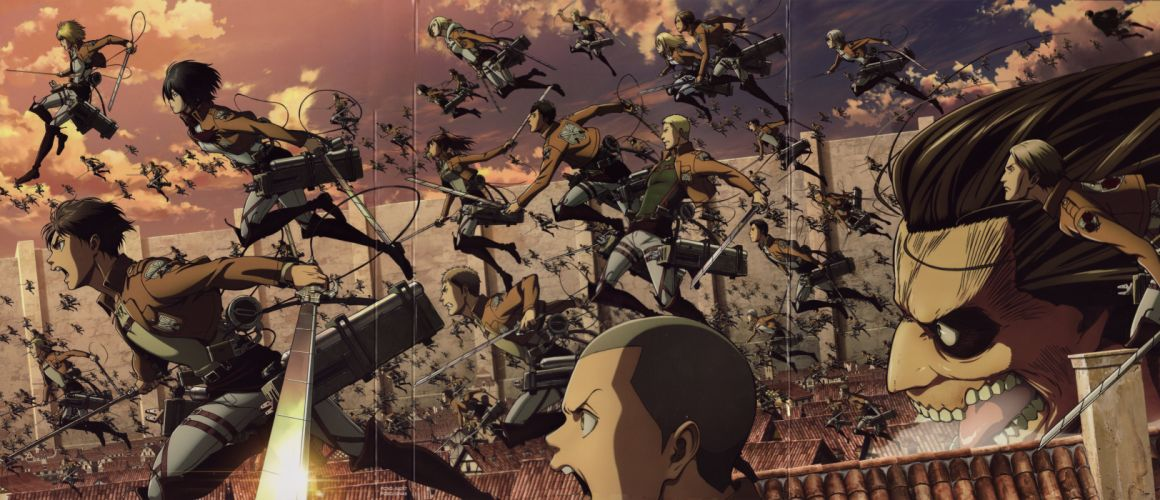 Shingeki no Kyojin Series anime characters cool wallpaper