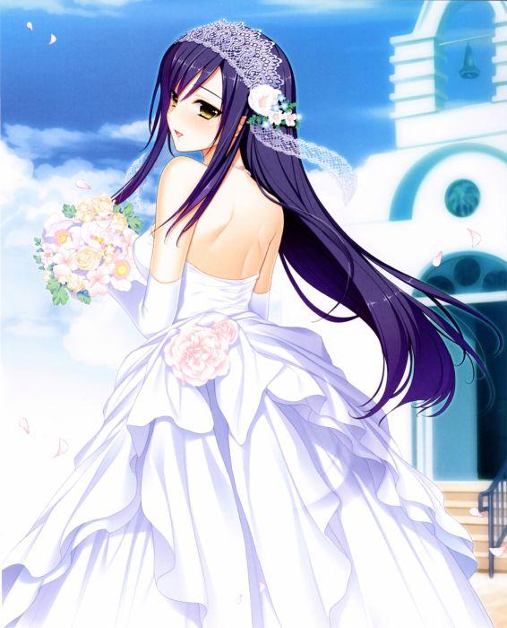 Rikka Narusawa Character Bridal Dress Flower Beautiful Girl Long