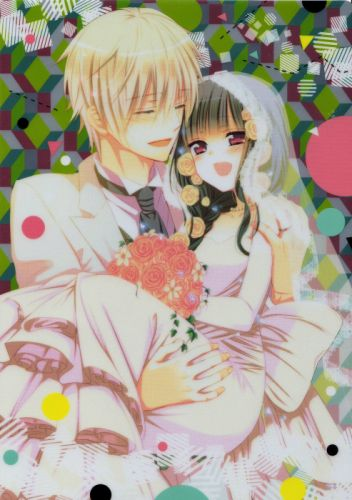 anime girl couple bridal dress flower smile Inu x Boku SS Series Soushi Miketsukami Character Ririchiyo Shirakiin wallpaper