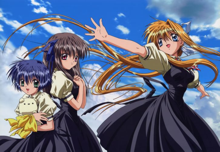anime series air characters girl beautiful dress wallpaper
