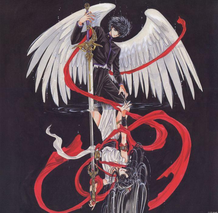 Anime Angel X Series Rg Veda Series Ashura Character Kamui Shirou Wallpaper 1836x1794 717838 Wallpaperup