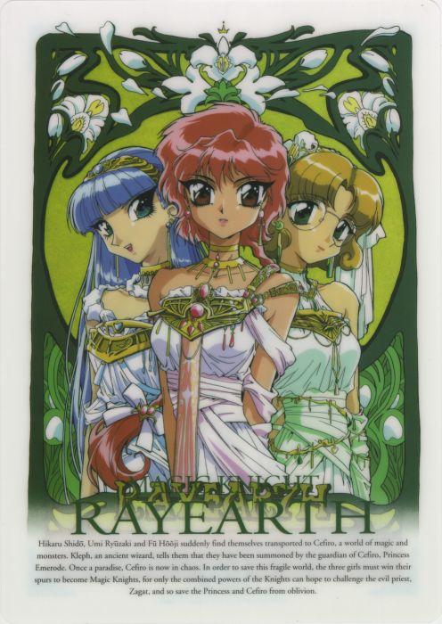 Magic Knight Rayearth Series OVA Umi Ryuuzaki Characters Hikaru Shidou anime dress girls beautiful wallpaper