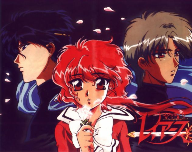Magic Knight Rayearth Series couples rose girl guys red hair eyes anime wallpaper