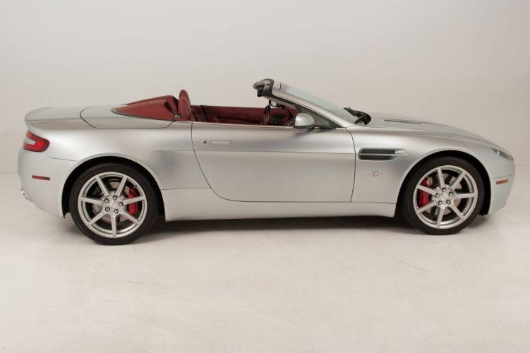 2007 Aston Martin V8 Vantage Convertible cars silver wallpaper