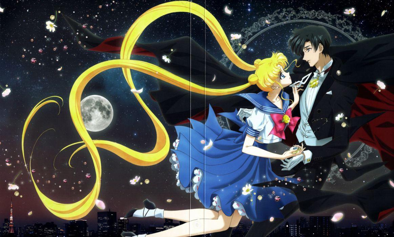 anime girl couple love Bishoujo Senshi Sailor Moon Series Usagi Tsukino Character Tuxedo Kamen wallpaper