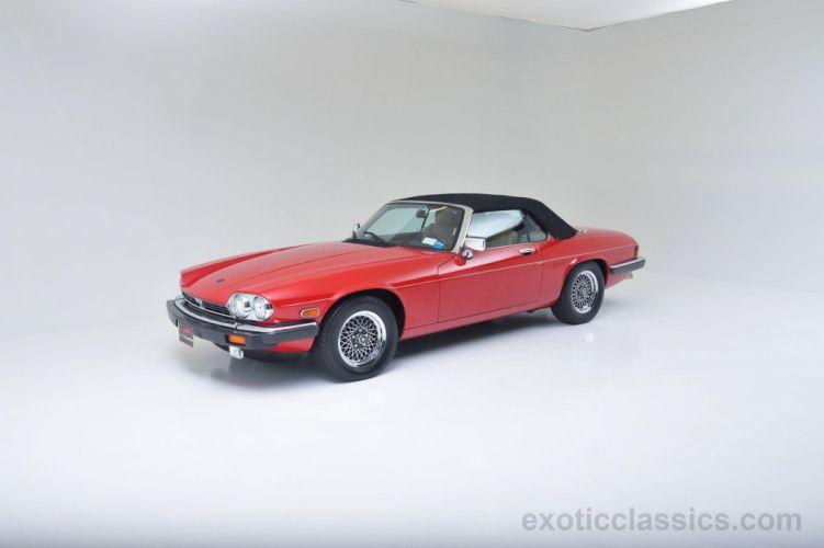 1989 Jaguar XJS Convertible V12 cars red wallpaper