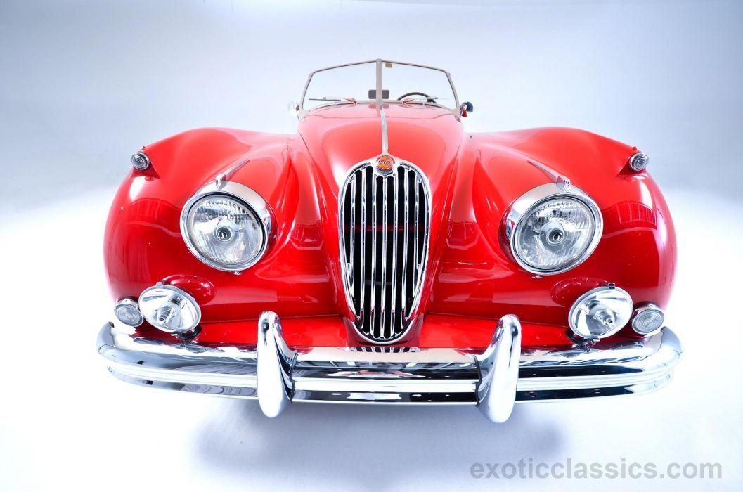 1955 Jaguar XK 140M Roadster cars classic red wallpaper