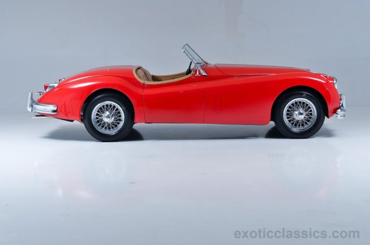 1955 Jaguar XK 140M Roadster cars classic red wallpaper