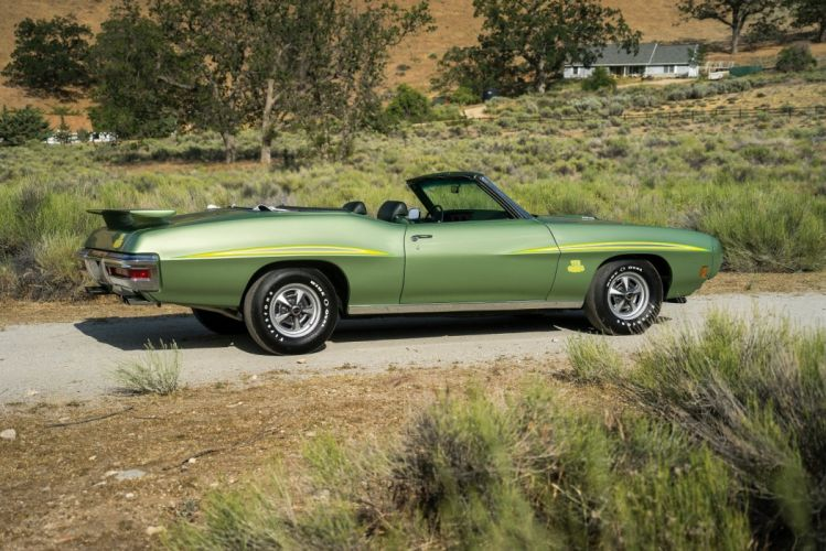 1970 Pontiac GTO The Judge Ram Air III Convertible classic cars green wallpaper