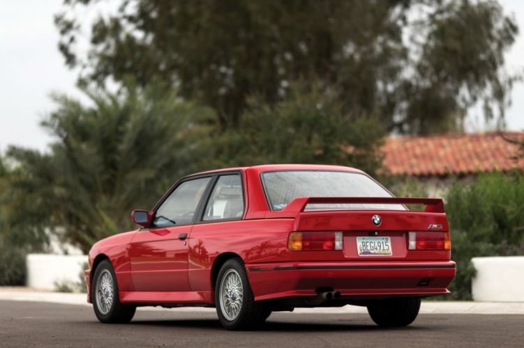 BMW M3 Coupe US-spec E30 cars coupe red 1987 wallpaper