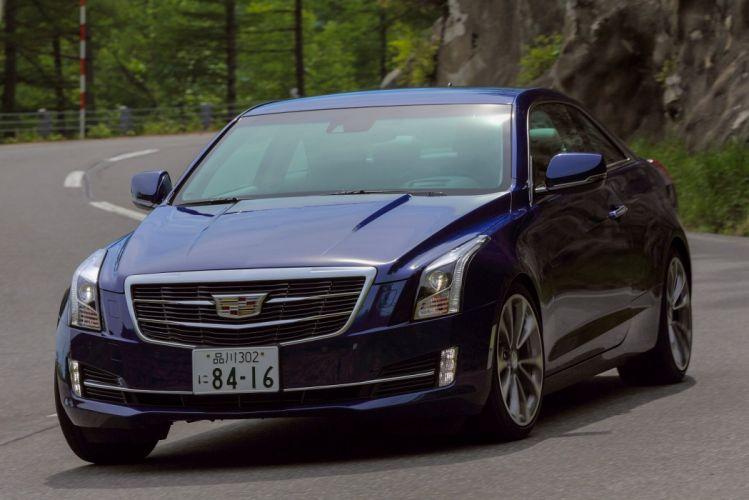 Cadillac ATS Coupe JP-spec 2014 cars blue wallpaper