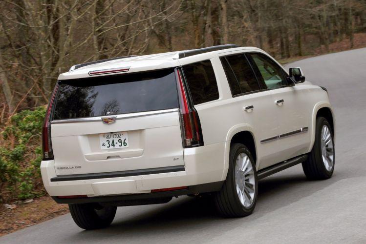 Cadillac Escalade Platinum JP-spec cars suv white 2015 wallpaper
